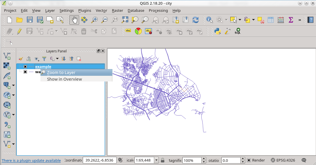 9  Using Qgis — Workshop - FOSS4G 2018 Dar Es Salaam - Routing with